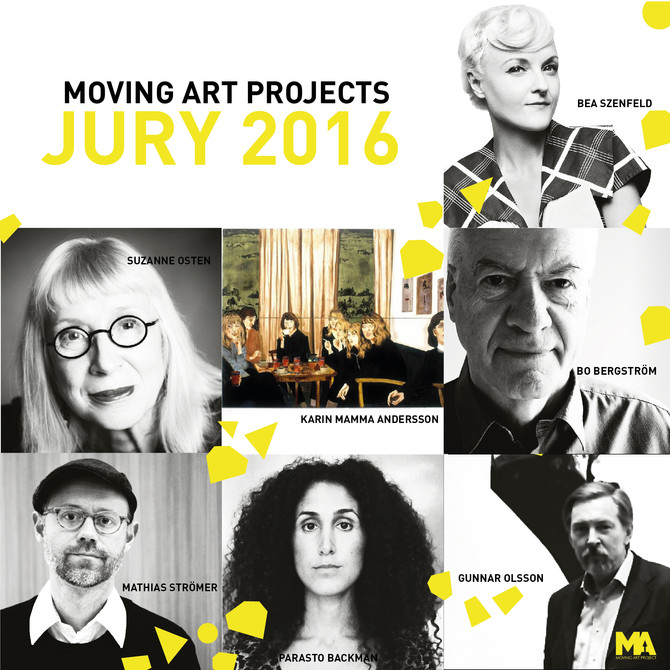 Moving Art Projects Jury tillkännages