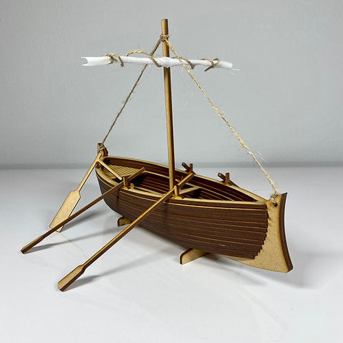 Galilean First Century Fishing Boat Scale Model - 1:30 Scale