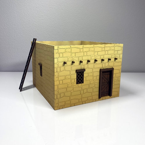 Joseph & Mary's First Century House Scale Model - 1:40 Scale