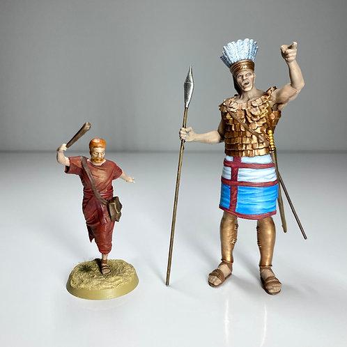 David & Goliath Scale Figures - 1:30 Scale