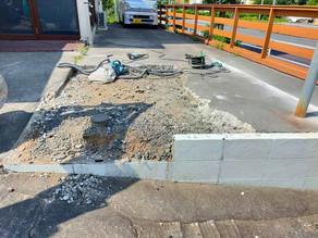 駐車場の段差解消