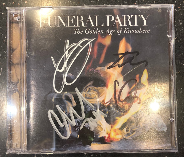 "AUTOGRAPHED CD: Funeral Party ""The Golden Age of Knowhere"""