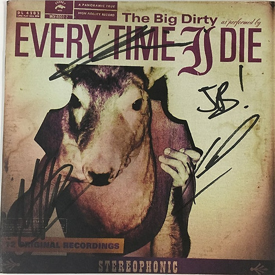 Every Time I Die AUTOGRAPHED Booklet
