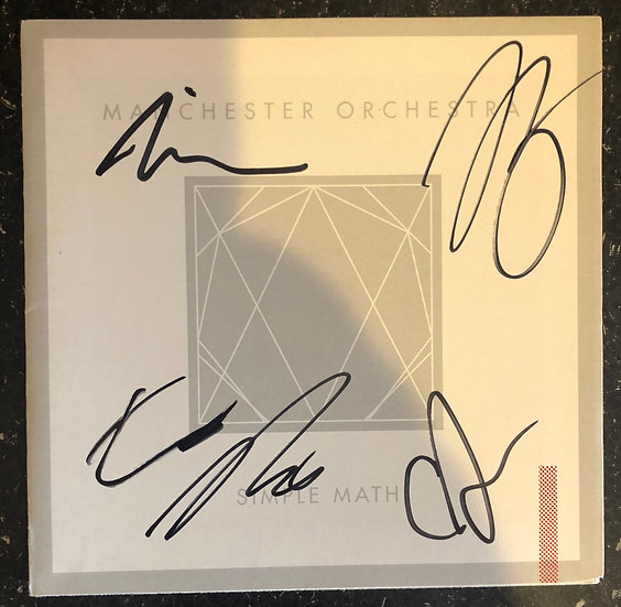 Manchester Orchestra AUTOGRAPHED Booklet
