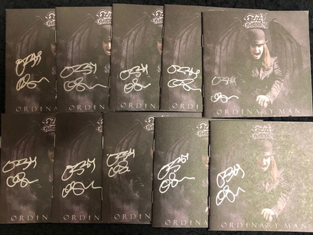 You could win an AUTOGRAPHED Ozzy Osbourne CD booklet!