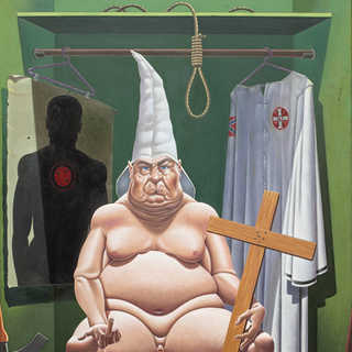Closet Klansman Oil on Canvas