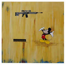 Mickey with Assault Rifle