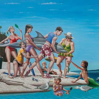 Easter Break Laguna Beach 1961 Oil on Canvas
