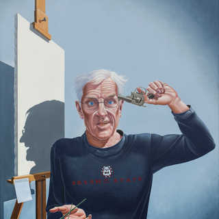 The Aging Social Realist Finally Goes... Oil on Canvas