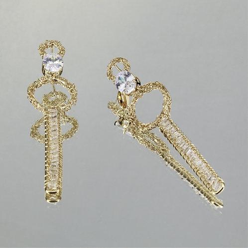 Brincos Forever-Ouro-Cristal