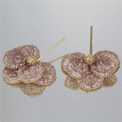 Brincos Orquídea-Ouro-Pele