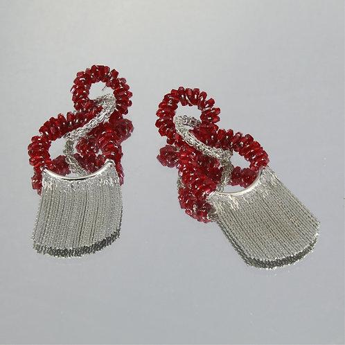cópia de Brincos Chanel Frange-Ouro-Granada