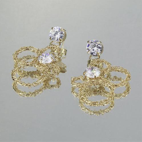 Brincos Molecule-Ouro-Cristal
