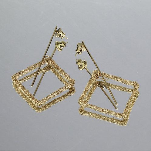 Brincos Vértices-Ouro