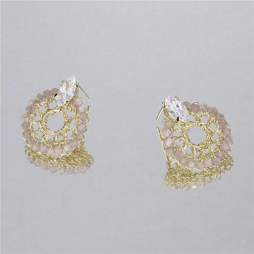 Brincos Blossom Mini-Ouro-Pele