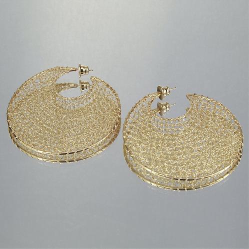 Brincos Maxi Esferas-Ouro