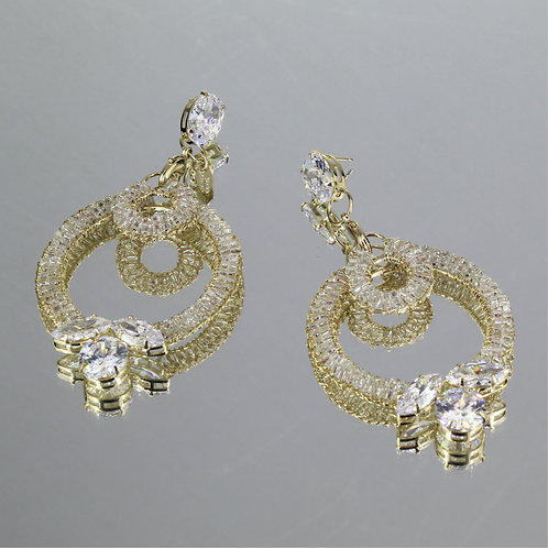 Brincos Louise Dobble-Ouro-Cristal