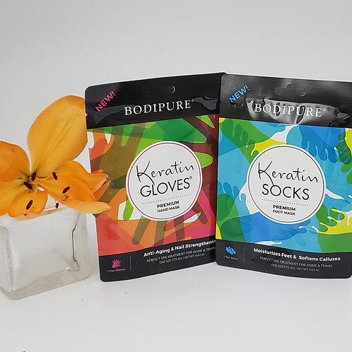 BODIPURE Premium Keratin Glove & Sock Set