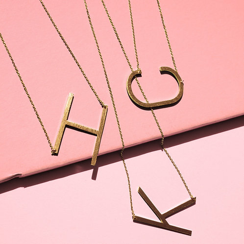 Monogram Collection Initial Necklace