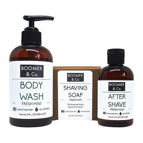 Fresh Mint Men's Grooming Kit