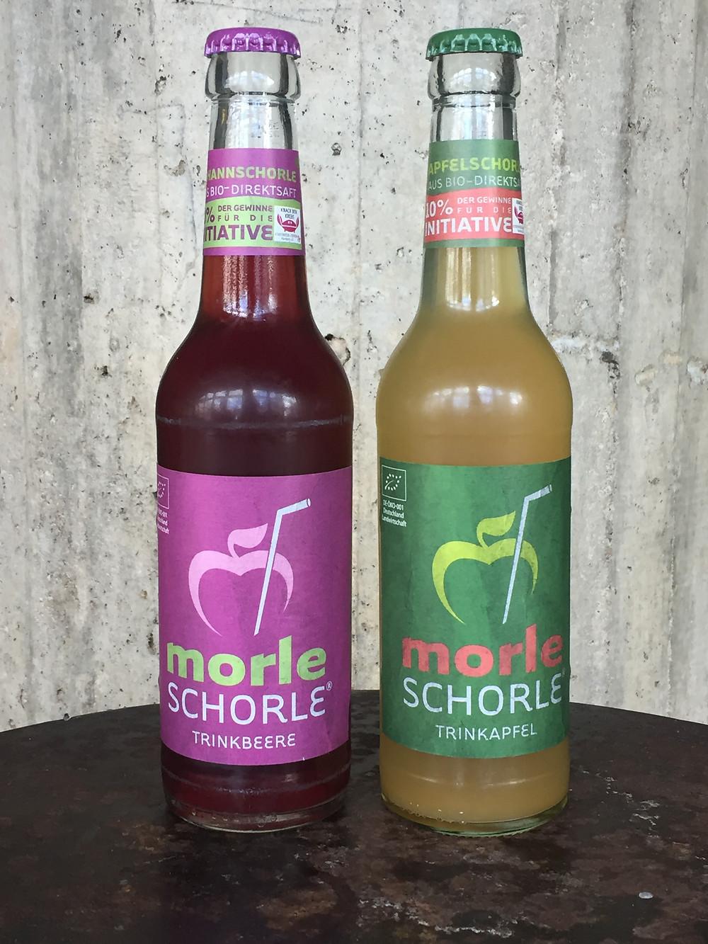 """Die Morleschorlen """"Trinkbeere"""" und """"Trinkapfel"""""""