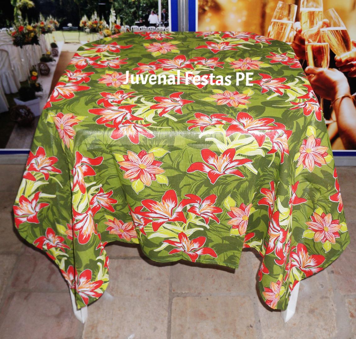 Toalha de chita / floral verde