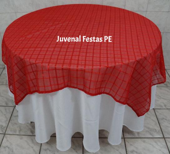 Toalha vermelha transparente