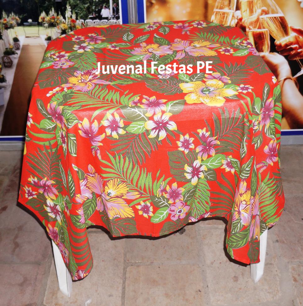 Toalha de chita floral vermelha