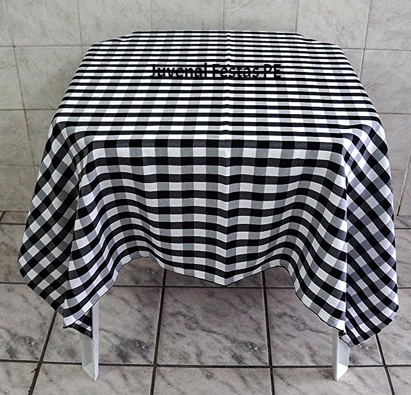 Toalha xadrez preto/branco