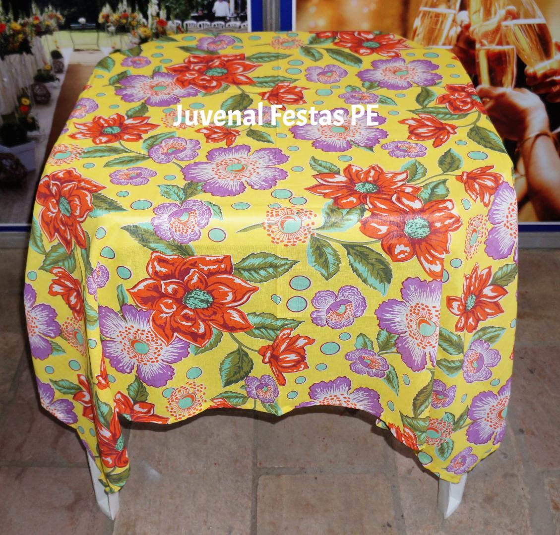 Toalha de Chita / Floral Amarela