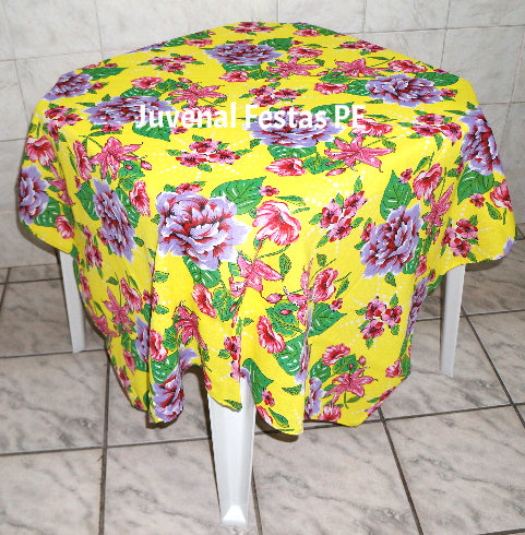 Toalha chita floral amarela