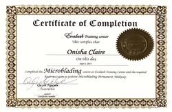 Evalash Microblading Certificate