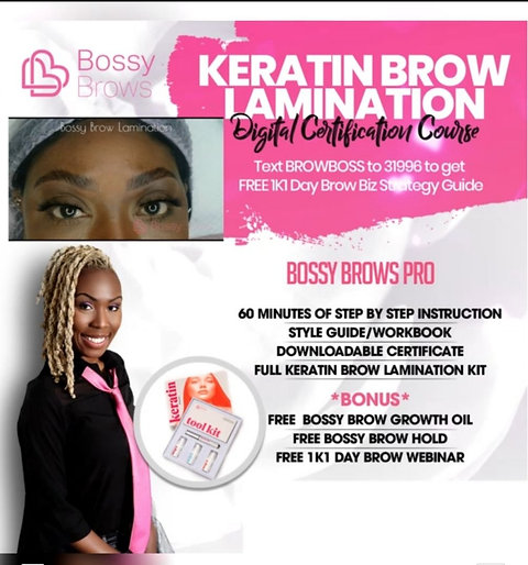 Digital Keratin Brow lamination Certification