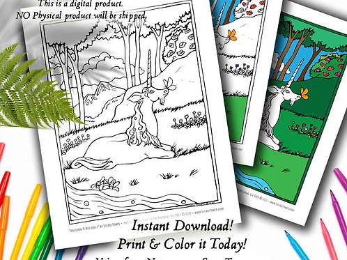 Printable Unicorn Butterfly Coloring Page - Download Now!