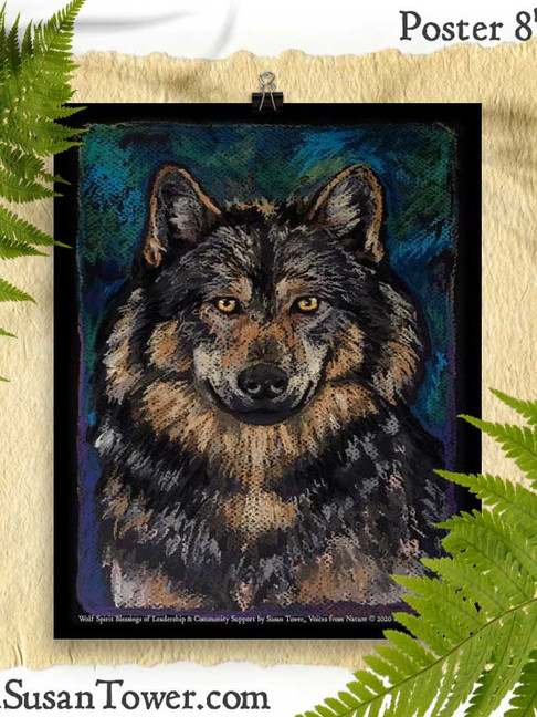 Wolf Totem Art Print 8x10 by Susan Tower