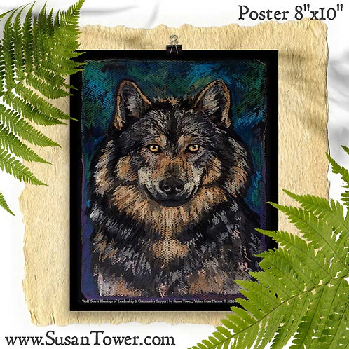 Poster Wolf Totem Art 8x10