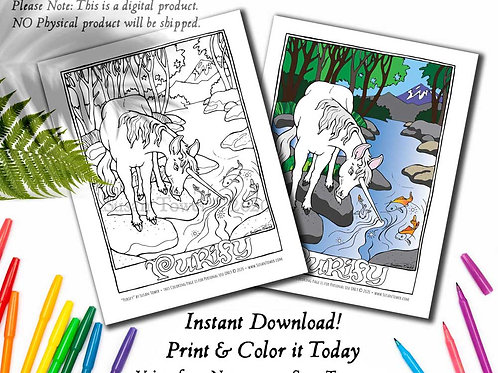 Printable Unicorn Purity Coloring Page - Download Now!