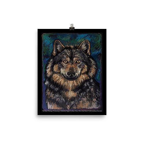 Poster Wolf Totem Art 8x10