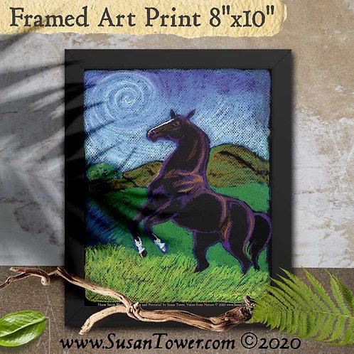 Framed Horse Totem Art Print 8x10