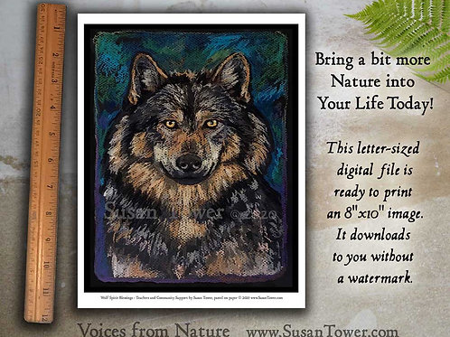 Printable Wolf Totem - Download Now