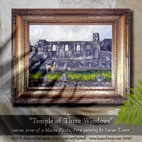 Temple of 3 Windows, Machu Picchu painting canvas print 12x16