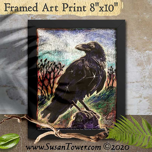 Framed Crow Totem Art Print 8x10