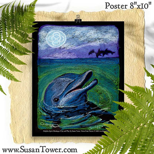 Poster Dolphin Totem Art 8x10