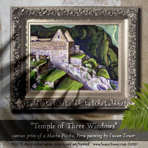 Ancient Passage, Machu Picchu painting canvas print 12x16