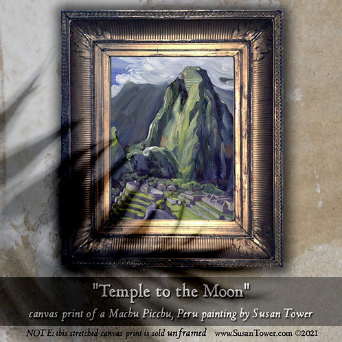 Temple to the Moon, Machu Picchu painting canvas print 12x16