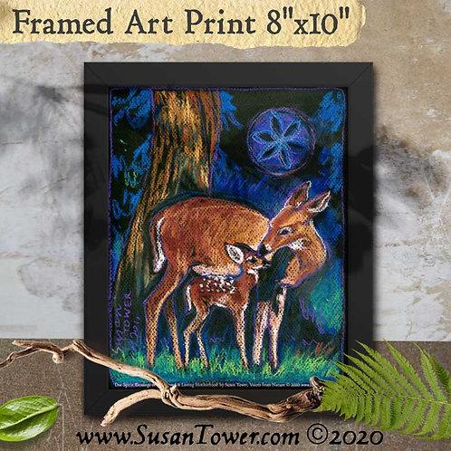 Framed Deer Totem Art Print 8x10