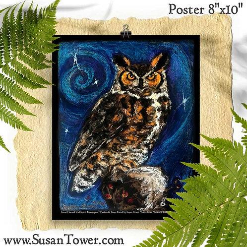 Poster Owl Totem 8x10