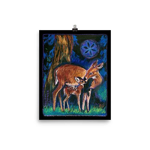 Poster Deer Totem Art 8x10