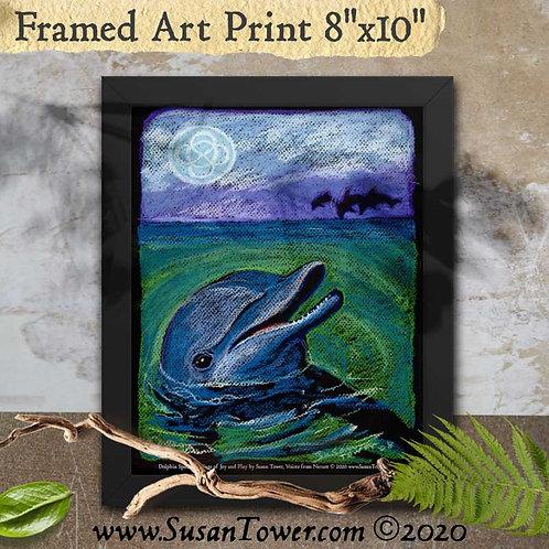 Framed Dolphin Totem Art Print 8x10