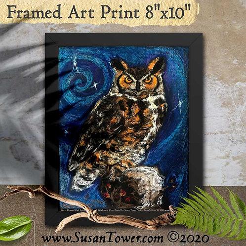Framed Owl Totem Art Print 8x10